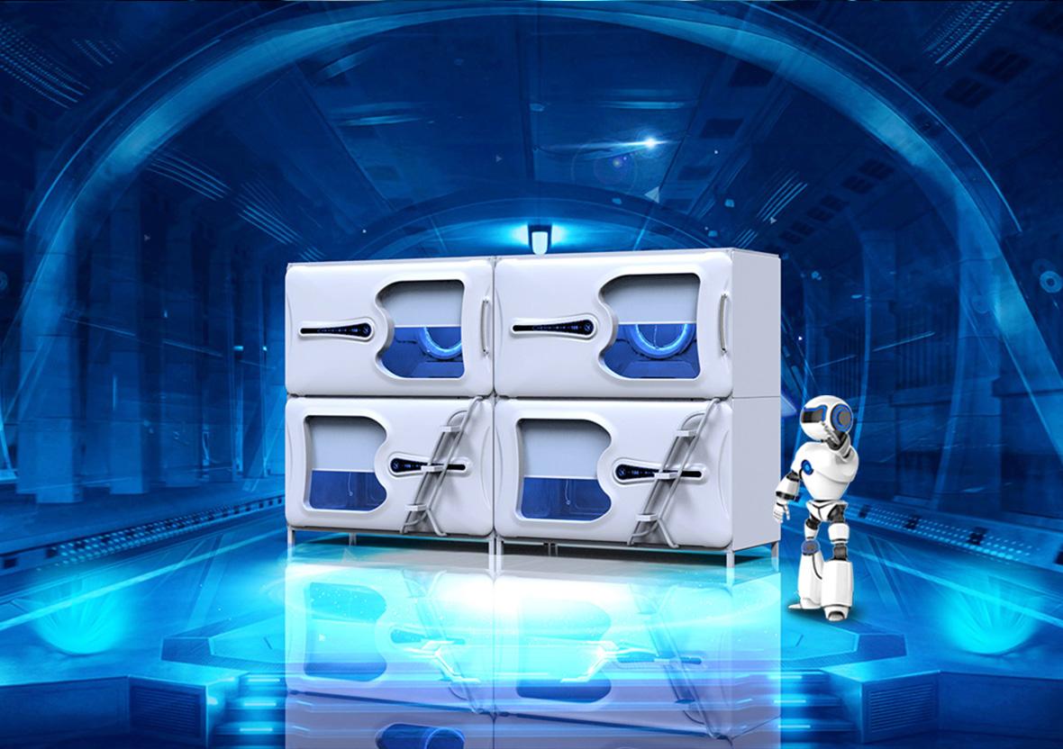 太空艙簡潔款橫式單人艙創業版
