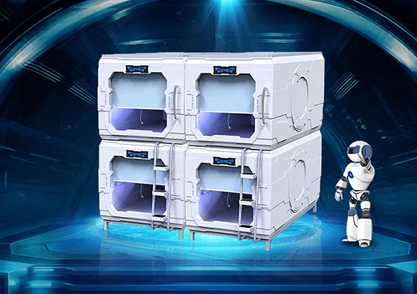 太空艙科技款豎式單人艙創業板版