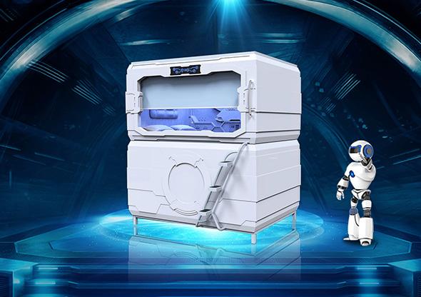 太空艙科技款橫式雙人艙創業版