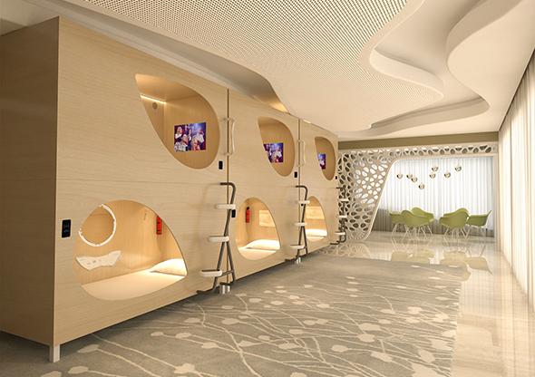 木艙太空艙床