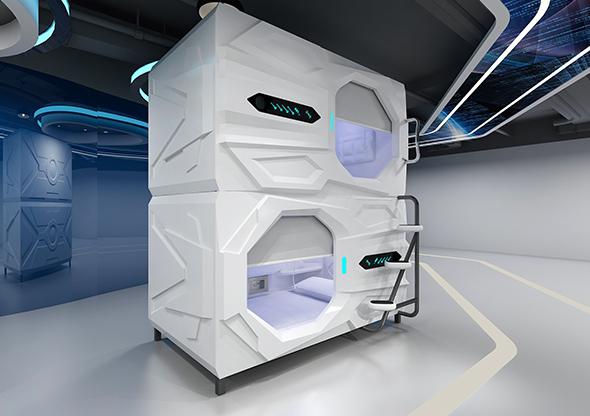 太空艙科技款橫式單人艙豪華版