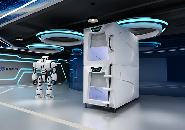 簡潔款太空艙門豎式單人艙豪華版