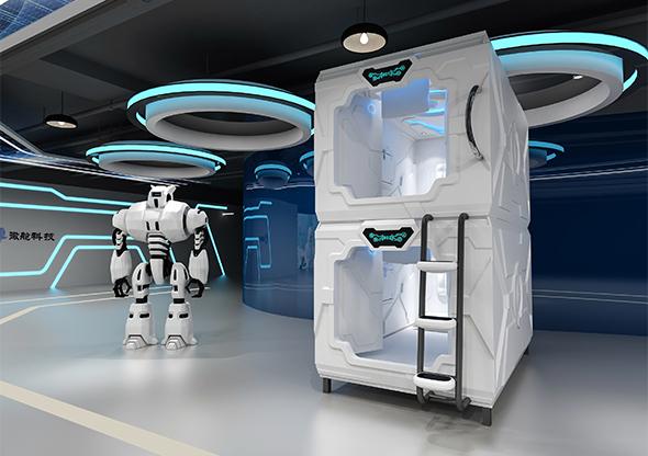 科技款太空艙門豎式單人艙奢華版