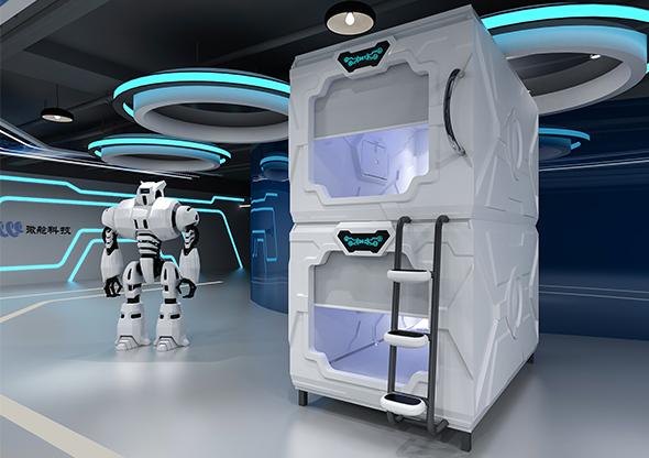 科技款太空艙門豎式單人艙豪華版