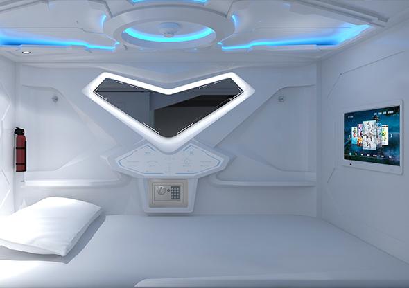 太空艙科技款橫式單人艙奢華版