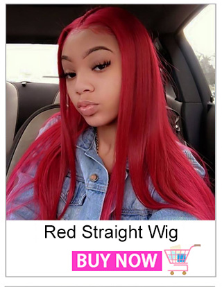 Red Wig Human Hair Remy Brazilian Straight Lace Front Wig