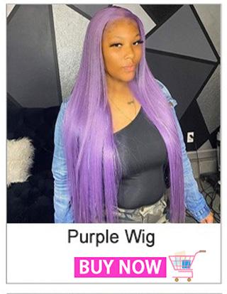 Purple Human Hair Wigs