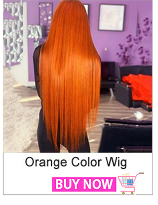 Orange Color Straight Lace Front Wig