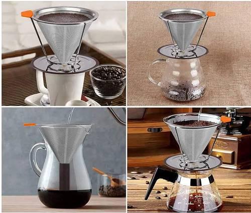 不銹鋼咖啡絲網錐過濾器